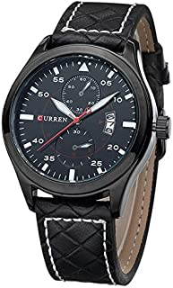 Curren Casual Watch For Men Analog Leather - 8151