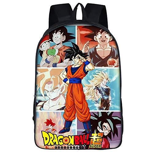 Dragon Ball Mochila de Escuela de Dibujos Animados de Mochila de Anime Bolso de Escuela Secundaria Media Primaria for Estudiantes Niños (Color : A24, Size : 29 X 16 X 42cm)