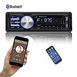 bedee Autoradio KFZ Bluetooth Audio Empfänger MP3 Player mit Freisprecheinrichtung für iPhone/iPad/iPod/Smartphone, Unterstützung USB/AUX Anschluss SD Karten ISO Anschlußkabel 1 DIN...