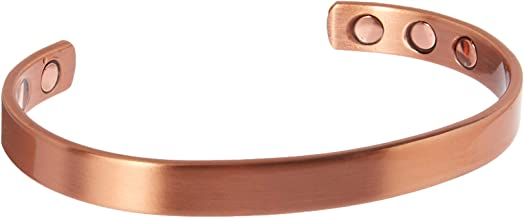 The Original Minimalist Pure Copper Magnetic Healing Bracelet for Arthritis, Carpal Tunnel, and Joint Pain Relief � Adjustable - For Men and Women - Earth Therapy
