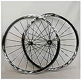 Ruedas de Bicicleta V-Brake 700C, Pared Doble Aleación Aluminio Ruedas Ciclismo Carretera con Liberación Rápida para 7 8 9 10 11 12 Velocidades (Size : 700C)