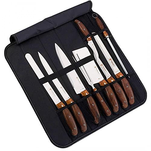 Juego profesional de 9 cuchillos de cocina para chef multiusos