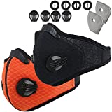 Infityle Dust Mask Reusable Activated Carbon Dustproof Masks with Extra Carbon N95 Filters for Pollen Woodworking Construction Mowing Running Riding Outdoor Activities