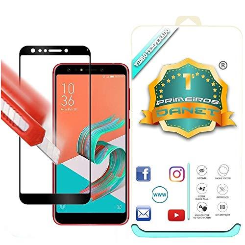 Película De Vidro Temperado 3D Full Cover Para Asus Zenfone 5 Selfie E Selfie Pro Zc600kl - Proteção Blindada Top Premium Que Cobre Toda A Tela - Danet (Preta)