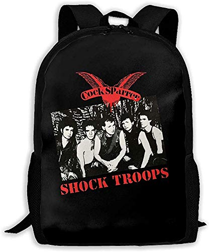 Yuanmeiju Unisex Bookbag Cock Sparrer Shock Troops Unisex Backpack Shoulder Bag School Backpack Travel Bags Laptop Backpack