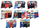 DC Comics 12 Paar Socken Mix aus Superman, Batman, Spiderman, Star Wars, Looney Tunes, Cars Kinder/Jungensocken…