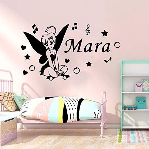 Tianpengyuanshuai creatieve aangepaste naam vinyl behang voor decoratie woonkamer slaapkamer wandafbeelding poster muursticker voor kinderkamer