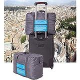 Bolsa de viaje plegable ultraligera para almacenamiento adicional, se desliza sobre el asa de la maleta con ruedas,...