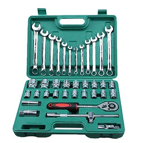 WY-YAN Llave 37pcs reparación de coches herramienta de la llave de par de combinación Conjunto de Herramientas for Mecánicos de mano Juegos de herramientas de trinquete llave de vaso Herramientas de r