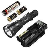 Eagletac S200C2 Cree XP-L Hi LED Flashlight w/ 18650 Battery, UM10 Charger, & 2 Premium CR123A Batteries