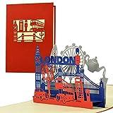 Carné de viaje por ejemplo para fin de semana en Londres I tarjeta de cumpleaños inusual para usted o para él, tarjeta pop up 3D, regalo original o vales, A125AMZ