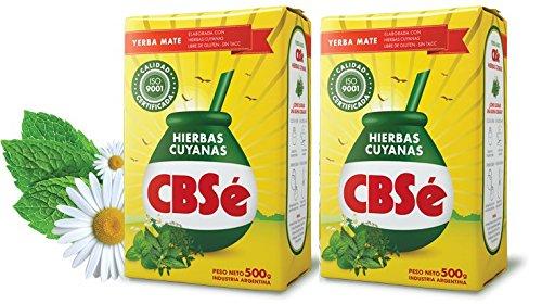 CBSe Yerba Mate Hierbas Cuyanas 500 gr. - 2 Pack / Yerba Mate Tea Cuyanas Herbs 1.1 lbs. - 2 Pack.