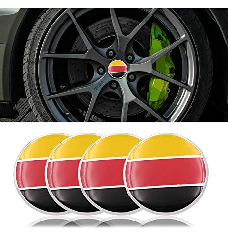 Tapacubos 4 unids / lote 56mm Rueda de automóvil Centro Hub Caps Caps Centro de ruedas Etiqueta engomada Logo Aluminio Aluminio Bandera Aleación Coche Centro Centro Cordillera Emblema Emblema para VW