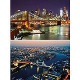 GREAT ART 2er Set XXL Poster – Städtemotive New York