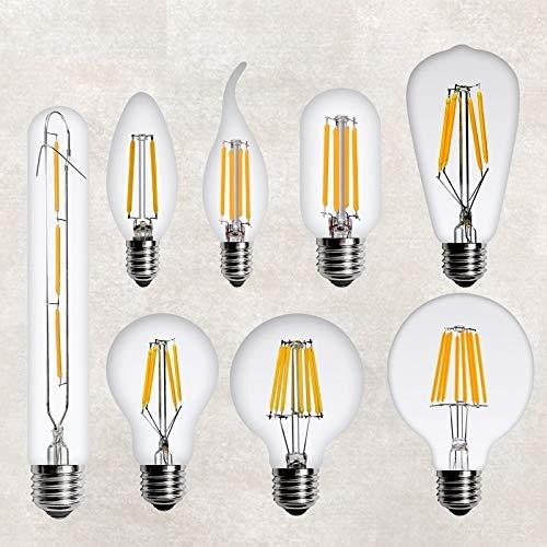 HHF LED Bulbs Lamps, Edison LED E14 E27 220V 2W 4W 6W 8W Retro de la lámpara LED Vela filamento de la lámpara Colgante de la Vendimia del Bulbo decoración del hogar Luz