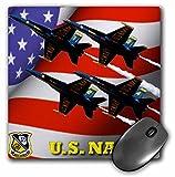 3dRose LLC 8 x 8 x 0.25 Inches Mouse Pad, U.S. Navy Blue Angels (mp_61134_1)