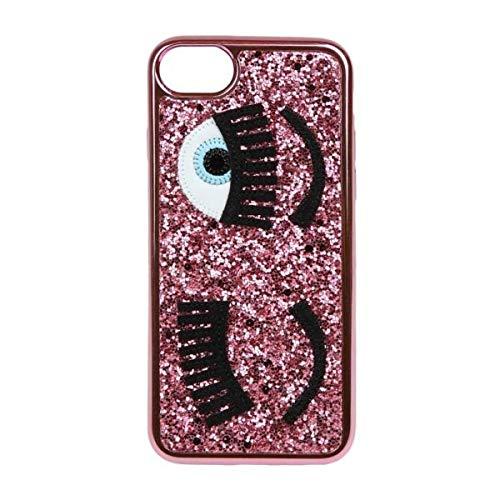 Chiara Ferragni Cover iPhone - Glitter Fuxia - iPhone 6 / 6S - 7 / 7S - Stile Italiano