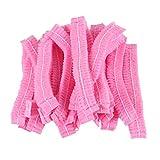 Beaupretty 100 Pz Tappi Monouso Comodo Non Tessuto Cuffia per Doccia Cuffia da Laboratorio Elastica Cuffia da Bagno in Plastica per Servizio Medico Trucco Rosa