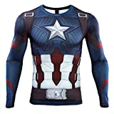 Cosfunmax Men's Super-Hero Compression Sports Fitness T-Shirt 3D Print Quick-Drying Gym Ruining Base Layer M