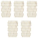 vidaXL Extendable Wood Trellis Fence 180 x 90 cm Set of 5