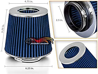 """BLUE 2.5"""" 63.5mm Inlet Cold Air Intake Cone Replacement Quality Dry Air Filter"""