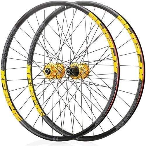 Ruedas Bicicleta llantas MTB Ruedas de bicicleta de montaña, bicicleta de ruedas 26/29 / 27,5 pulgadas frontal trasero de ruedas de freno de disco de doble pared llanta de liberación rápida 32 agujero