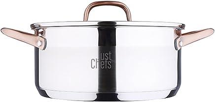 Just For Chefs Q2899 Cacerola 24cm 4.5l Acero Inoxidable inducción Tapa Infinity, Cromado