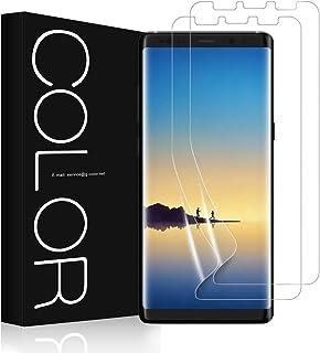 Galaxy Note 8 フィルム G-Color Galaxy Note 8 保護フィルム 気泡ゼロ ケースに干渉せず 非ガラス 貼り直しができる Samsung Galaxy Note8 対応 (TPU保護フィルム*2枚)