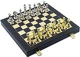 DJRH Ajedrez Plano magnético Plegable 12 'x 12' Juego de ajedrez Internacional magnético de Viaje con Tablero de ajedrez Plegable
