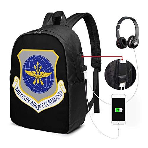 United States Air Forces südlichen Befehl Laptop Rucksack 17 Zoll mit Ladeanschluss, für Frauen Männer Mode Schultasche