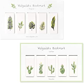 regalo per bambini cancelleria Set di 4 segnalibri magnetici per piante Baodanjiayou segnalibri
