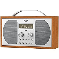 With a classic wooden cabinet design, this Bush DAB radio adds a retro feel to any living space. It has clear sound and display, so it's easy to see which station you're tuned into. Stream your music wirelessly with Bluetooth connectivity and listen ...
