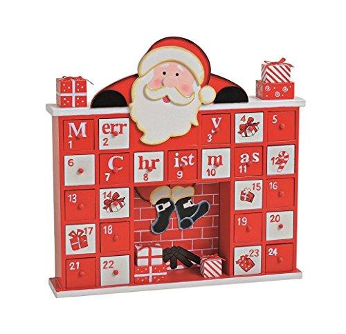 'LD decorazioni di Natale Calendario dell' Avvento 'camino in legno per bambini Natale Calendario stesso riempimento