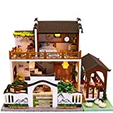 XZJJZ Modellspielzeug-DIY Miniatur-Puppenhaus aus Holz Möbel-Set, handgemachte Mini modernes Apartment Modell, Handwerk & CollectorsCreative Puppenstuben Spielzeug