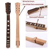 Yinfente - Diapasón de palisandro, caoba, mástil para guitarra, 22 trastes, sin acabado, pieza de sustitución