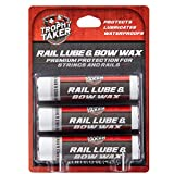 Trophy Taker Rail Lube & Bow Wax 3 Pack | Unscented | Crossbow Hunting Accessories, Waterproof Archery Bow String Wax | Helps Reduce Friction and Prevent Fraying