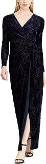 LAUREN RALPH LAUREN Womens Tie-Wrap Gown (Nightfall, 4)