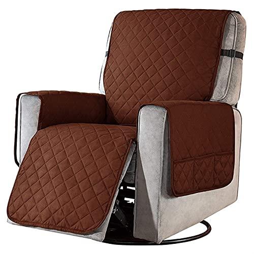 KJLYU Funda impermeable para sofá, extraíble para mascotas, sillón, muebles, protector lavable, con bolsillo (color oscuro), especificación S: