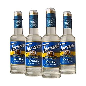 Torani Sugar Free Syrup Vanilla 12.7 Oz Pack of 4