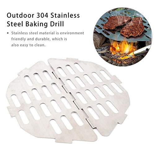 Conemmo 304 RVS buitenbakplaat Folding Barbecue plank camping zelfvertrouwen grill ronde Hexagonal Grilled net