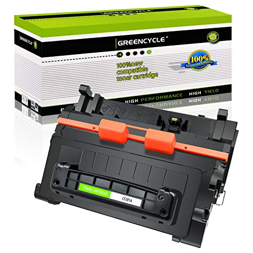 GREENCYCLE Compatible Toner Cartridge Replacement for HP 81A CF281A Use for Laserjet Enterprise M604 M605 M606 M630 M604N M605X M630h M630dn M630z MFP Printer (High Yield, Black, 1-Pack)
