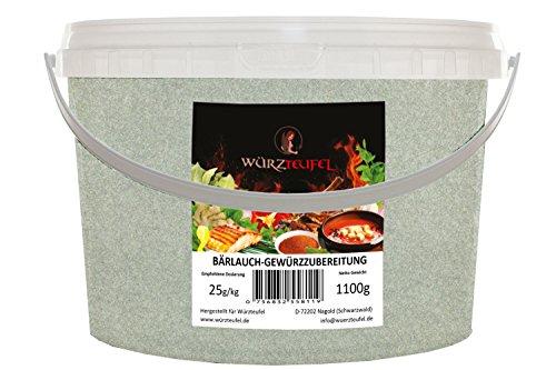 Bärlauch - Gewürzzubereitung, Delikatess - Bärlauch, wilder Knoblauch. Für Fisch, Fleisch & vegane Küche. PE - Eimer 1100g (1,1 KG)