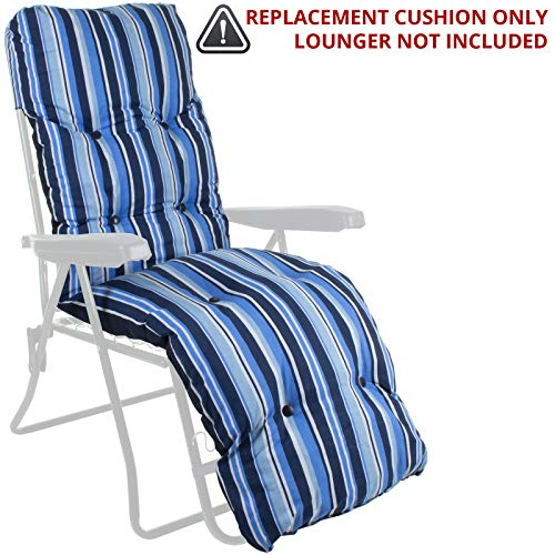 Sun Lounger Cushion Outdoor Garden Patio Recliner Thick Padded Replacement Spare