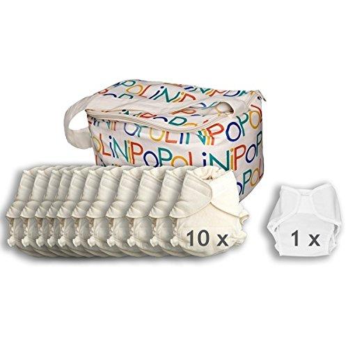 Popolini UltraFit Organic Kit complet avec rouleau de textile non tissé et tapis à langer