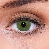 LENZOTICA Sehr stark natürlich deckende grüne Kontaktlinsen farbig PLATINUM GREEN + Behälter von LENZOTICA I 1 Paar (2 Stück) I DIA 14.00 I ohne Stärke I 0.00 Dioptrien -