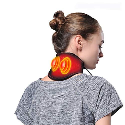 XIAOQIAO Infrarot-Heizung Neck Brace, Selbst Heizung Neck Brace Unterstützung Magnete, Relief Kopfschmerzen Migräne Rheumatoide, Steif, Fatigue (Color : Black)