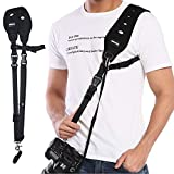 Prowithlin Camera Strap with Safety Tether Mounting Plate for DSLR SLR Camera (Canon Nikon Sony Olympus...