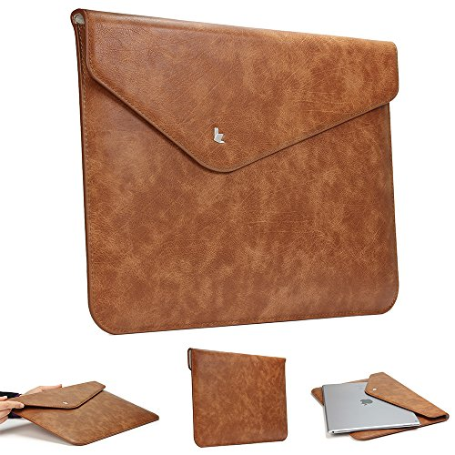 Urcover® 13 Zoll Laptoptasche Slim Design - Thin Fit I Kunstleder - Braun