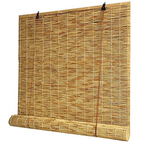 CLJ Estores de Bambú, Persiana de Bambú para Interiores, Persianas de Bambu Exterior, Estor Enrollable de Bambú Natural para Ventanas, jardín, balcón del hogar
