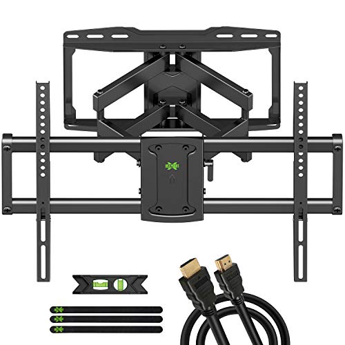 """USX MOUNT TV Wall Mount, Full Motion TV Mount for Most 37-70 inch TVs, TV Bracket Dual Swivel Articulating Arms Extension Tilt Rotation, Max VESA 600x400mm, 16"""" Wood Stud, Holds up to 132lbs"""